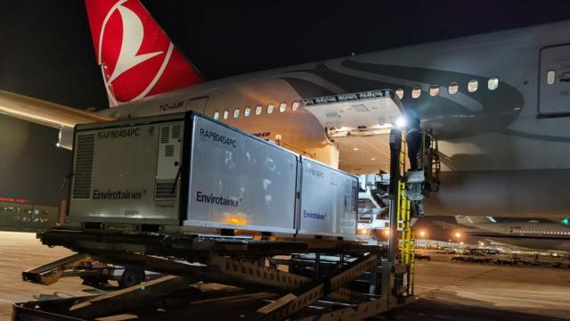 Aşıları taşıyan uçak Ankaraya inecek