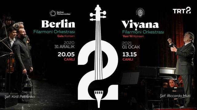 Berlin ve Viyana Filarmoni Orkestrası'nın Yeni Yıl Konserleri Canlı Yayınla TRT 2'de