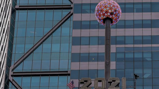 New York Times Meydanında yeni yıl sanal ortamda kutlandı