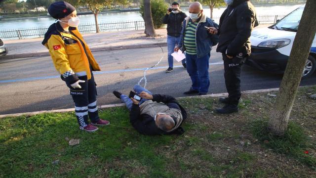 Seyhan Nehrine düşen adamı işçiler kurtardı