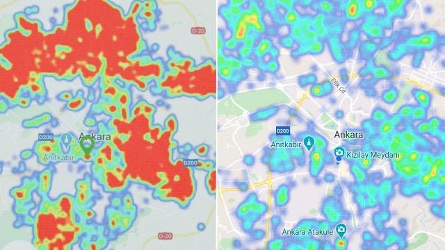 Ankarada risk haritası yeşile döndü