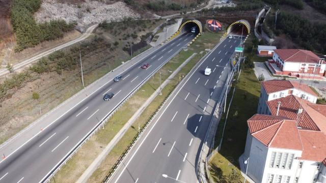 Bolu Dağı Tünelinden milyonlarca araç geçti