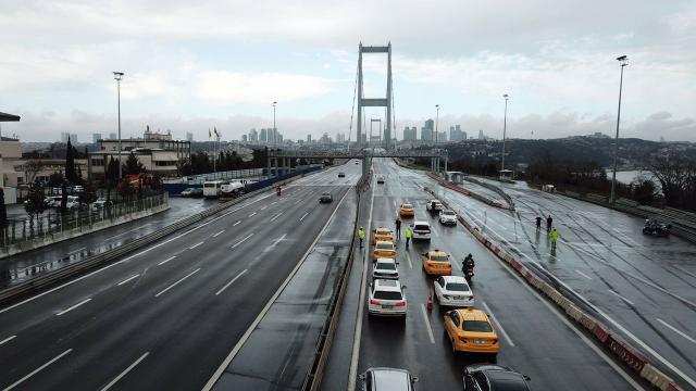 15 Temmuz Şehitler Köprüsünde kısıtlama denetimi