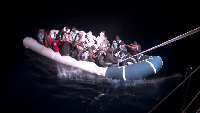 Muğla açıklarında 34 düzensiz göçmen kurtarıldı