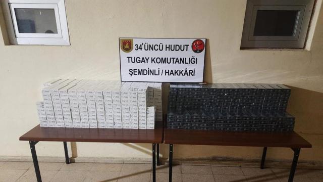 Hudut hatlarında 8 bin 879 paket kaçak sigara ele geçirildi
