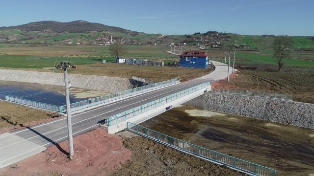 Kocaelinde iki ilçeyi birbirine bağlayan köprü açıldı