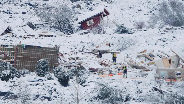 Norveçteki heyelanda can kaybı 3e yükseldi