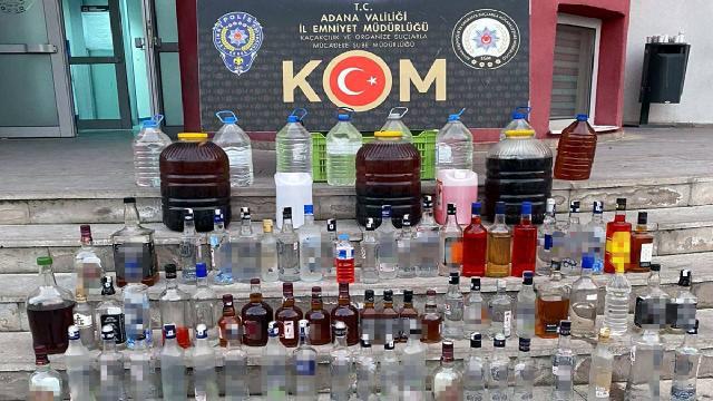 Adanada sahte içki operasyonu: 3 gözaltı