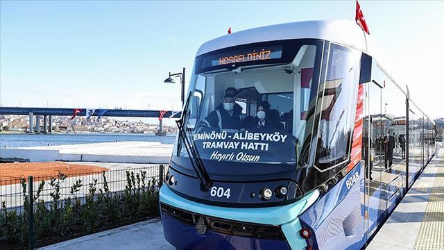 Eminönü-Alibeyköy Tramvay Hattının ilk bölümü açıldı