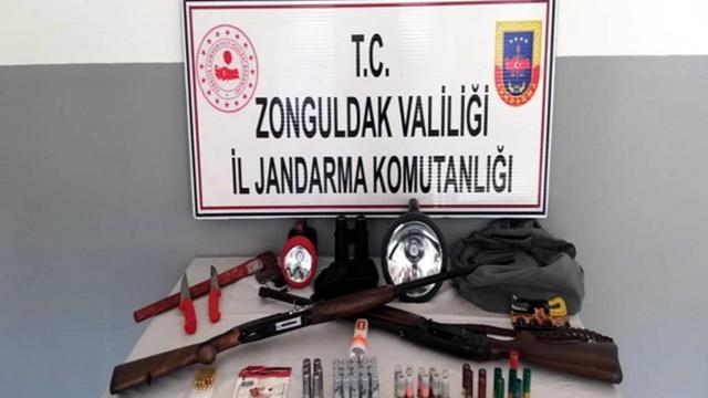 Zonguldakta kaçak avlanan 3 kişiye 80 bin lira ceza kesildi