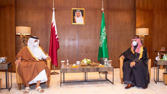 Veliaht Prens Selman ve Katar Emiri Al Sani görüştü