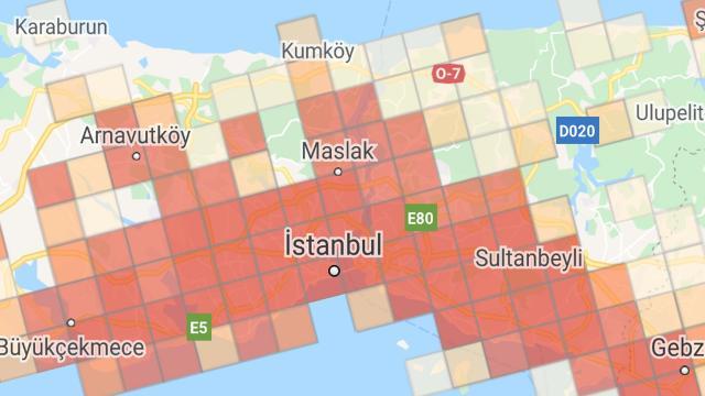 İlçe ilçe İstanbul koronavirüs haritası… İstanbulda koronavirüsün yoğun olduğu ilçeler…