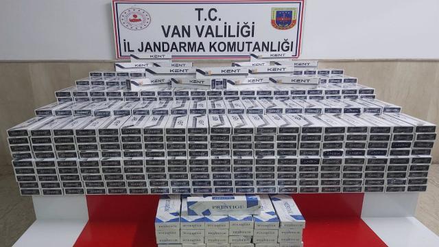 Vanda 8 bin 500 paket kaçak sigara ele geçirildi
