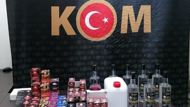 Antalyada kaçak içki operasyonunda bir şüpheli yakalandı