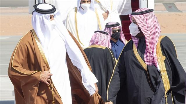 Katar Emiri Şeyh Temim bin Hamed Al Sani Suudi Arabistanda