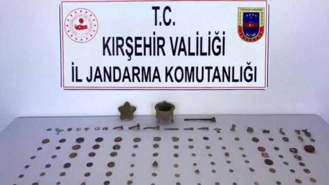 Kırşehirde tarihi eser operasyonu: 3 gözaltı