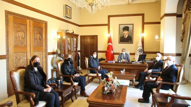 DATÜB heyeti Erzincan Valisi Mehmet Makası ziyaret etti