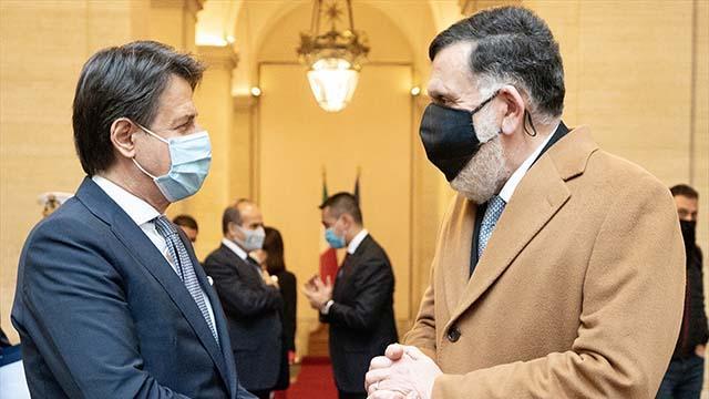 İtalya Başbakanı Conte, Libya Başbakanı Serrac ile görüştü