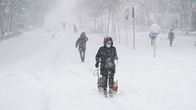 İspanyada kar fırtınası nedeniyle hayat durdu