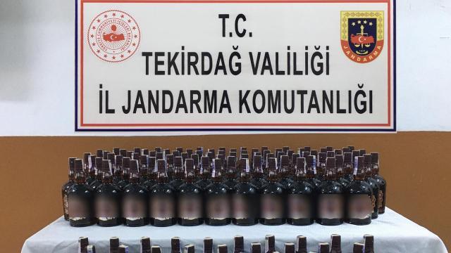 Tekirdağda 165 şişe kaçak içki ele geçirildi