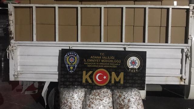 Adanada 2 milyon 740 bin kaçak makaron ele geçirildi