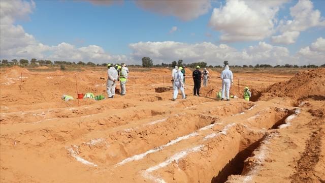 Libyanın Terhune kentinde yeni bir toplu mezar bulundu
