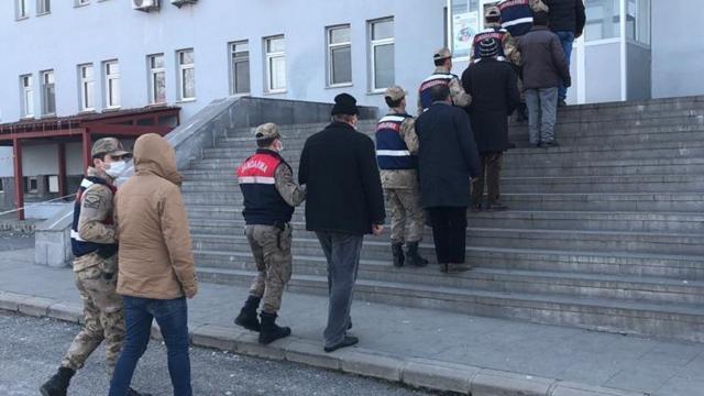 Terörist cenazesinde propaganda: 7 gözaltı