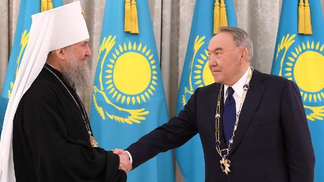 Kazakistan Kurucu Cumhurbaşkanı Nazarbayeve Algıs nişanı