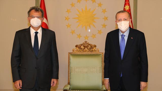 Cumhurbaşkanı Erdoğan, TÜSİAD Yönetim Kurulu Başkanı Kaslowski ile görüştü