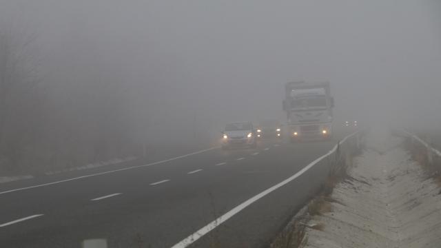 Çankırıda sis ulaşımı olumsuz etkiliyor