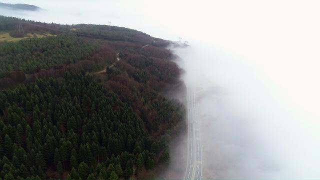 Bolu Dağında sağanak ve sis ulaşımı olumsuz etkiliyor