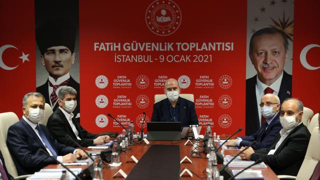 İçişleri Bakanı Soylu, Fatih Güvenlik Toplantısına katıldı