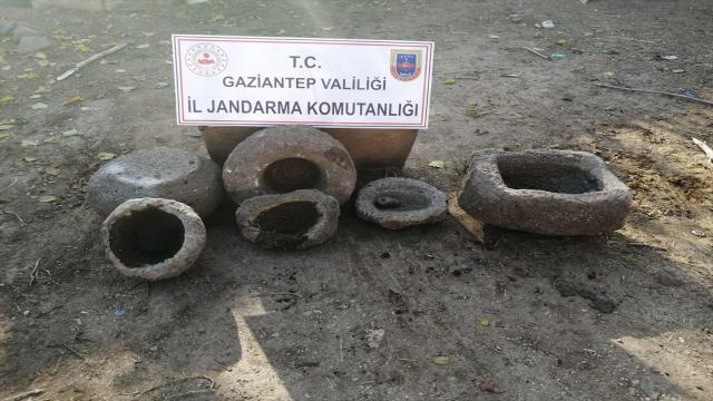 Gaziantepte tarihi eser niteliğinde 7 işlemeli taş ele geçirildi