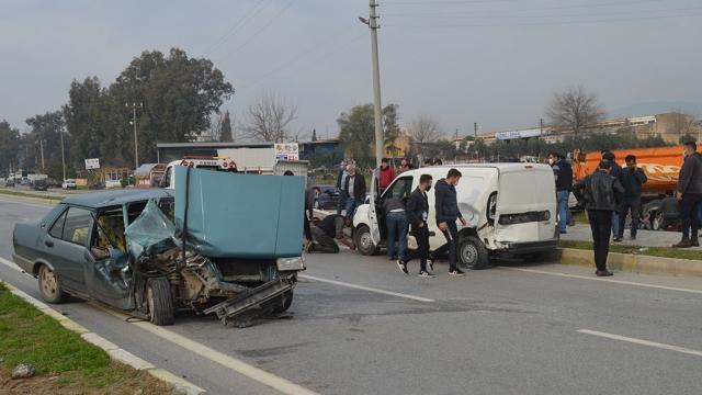 Çinede trafik kazası: 2 yaralı