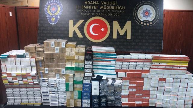 Adanada kaçakçılık operasyonları: 4 gözaltı