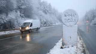 Bolu Dağı'nda kar yağışı: Sürücüler uyarıldı