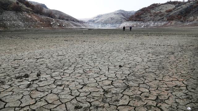 Çubuk-2 Barajında su seviyesi yüzde 23e düştü