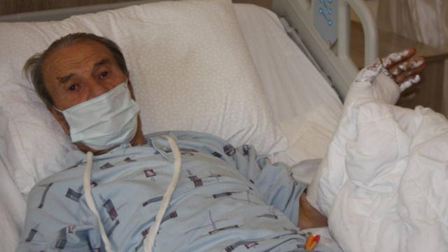 Edirnede domuzun saldırdığı yaşlı adam yaralandı
