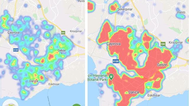 Kocaelide risk haritası yeşile döndü