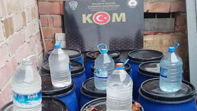 Malatyada 525 litre sahte içki ele geçirildi: 1 gözaltı