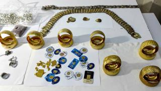 Operasyonlarda ele geçirilen sahte altınlar sergilendi
