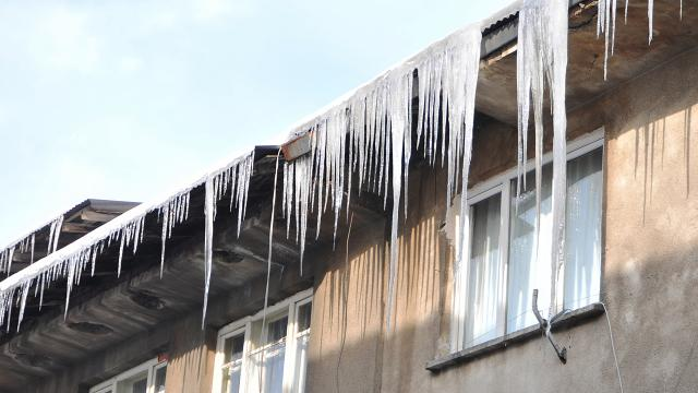 Erzurum aralıkta buz kesti