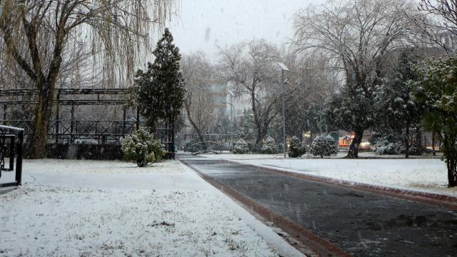 Aksarayda kar yağışı etkili oldu