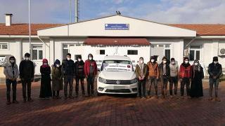 Gaziantep'te 13 düzensiz göçmen yakalandı