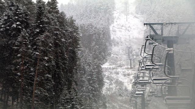 Yıldıztepe Kayak Merkezi beyaza büründü