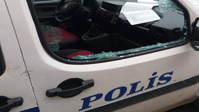 Polis araçlarına zarar verdi: Tutuklanmak istedim