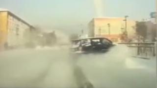 Rusya'da araç köprüden uçtu