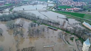 Tunca ve Meriç nehirlerinin debisinde düşüş devam ediyor
