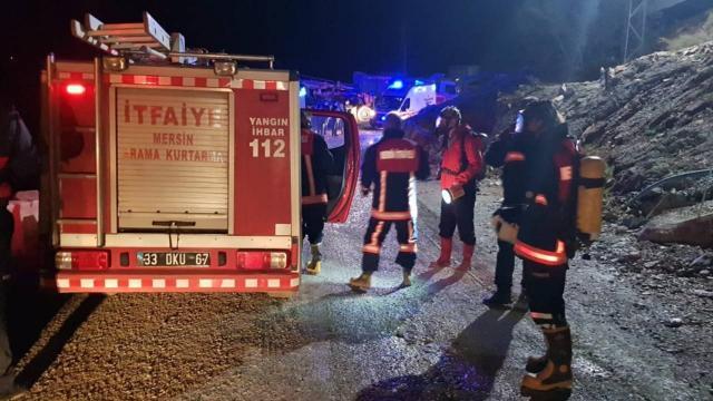 Mersinde tünel inşaatında yangın: 8 işçi hastaneye kaldırıldı