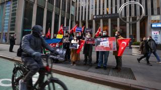 ABD'de Türklerden WSJ'ye protesto